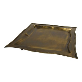 Square Antique-Style Brass Tray