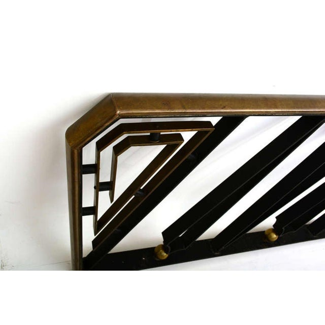 Black Midcentury Mexican Modernist Talleres Chacon Handrail, Arturo Pani For Sale - Image 8 of 9