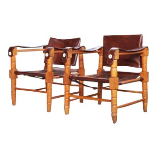 Mid Century Douglas Heaslett Arne Norell Style Chairs - a Pair For Sale