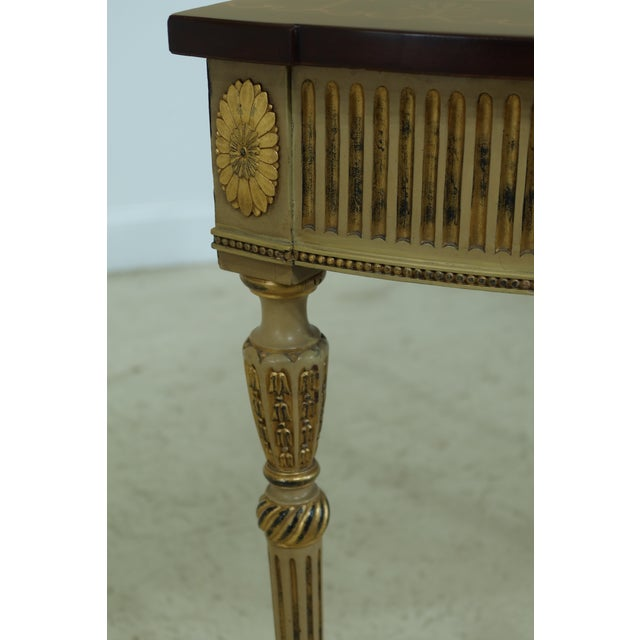 Brown Gorgeous Highly Inlaid Paint Decorated Adam Console Table For Sale - Image 8 of 12