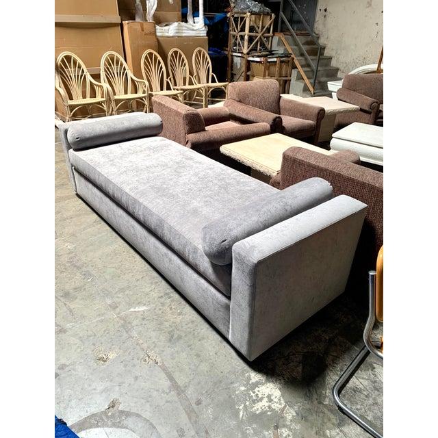 Kreiss Grey Velvet Kreiss Lyon Bench For Sale - Image 4 of 4