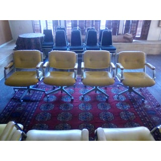 1960 Vintage Yellow Captain Chairs - Set of 8 Preview