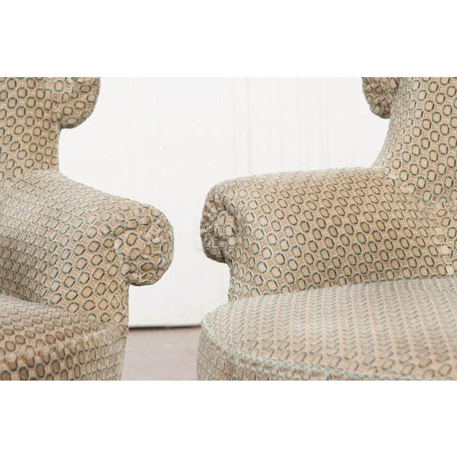 Pair of 19th Century English Upholstered Tub Chairs For Sale - Image 9 of 13