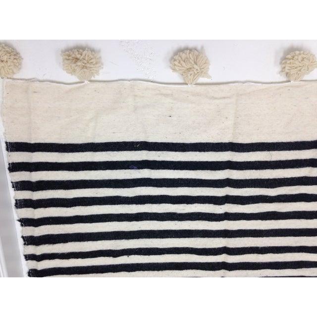 Make & Model Moroccan Striped Pom Pom Blanket - Image 3 of 3