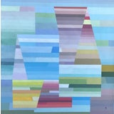 Image of Abstract Geometric Composition Painting by Michael Gloekner