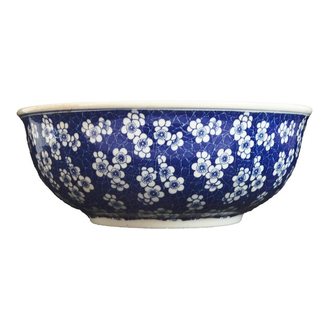Chinese Lg Centerpiece Plum Blossom Bowl - Image 1 of 8