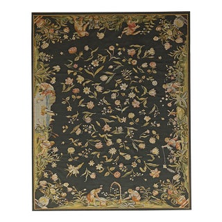 """Pasargad Aubusson Hand Woven Wool Rug - 9' 0"""" X 11' 9"""""""