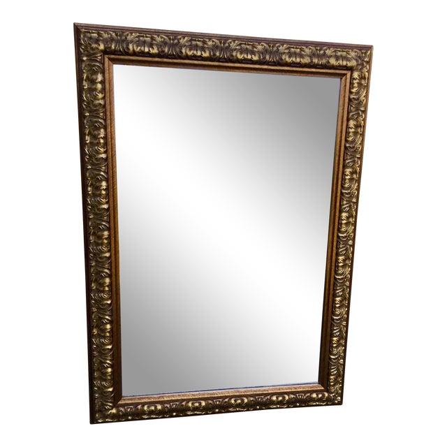 Ornate Gilt Wood Mirror For Sale