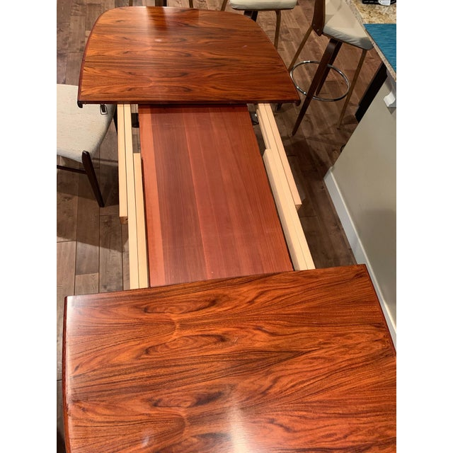 Rasmus Solberg Rasmus Vintage Rosewood 9 Piece Dining Set For Sale - Image 4 of 13