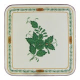 Image of Pimpernel Herend Chinese Bouquet Green Coasters - Set of 6 For Sale