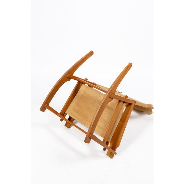 1960s Keyhole Rocking Chair by Hans Wegner For Sale - Image 5 of 13