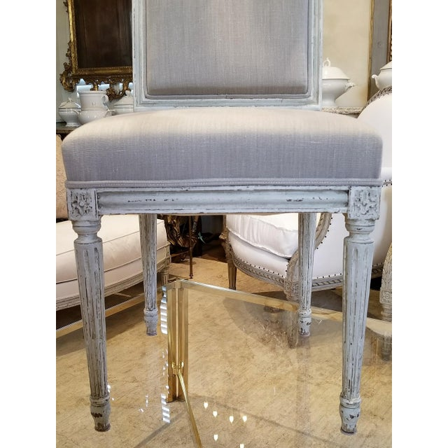 Louis XVI Set of 10 Louis XVI Style Dining Chairs For Sale - Image 3 of 8