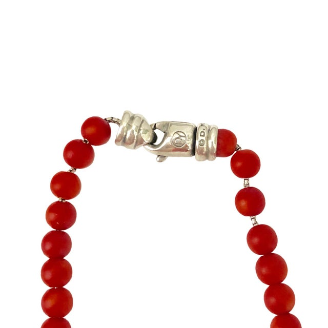 A fine David Yurman 6mm Spiritual Bead Necklace. From the Spiritual Bead collection, this necklace features 6 mm coral...