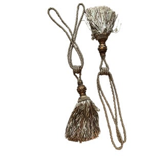 Passementerie Tie-Back Tassels - A Pair For Sale