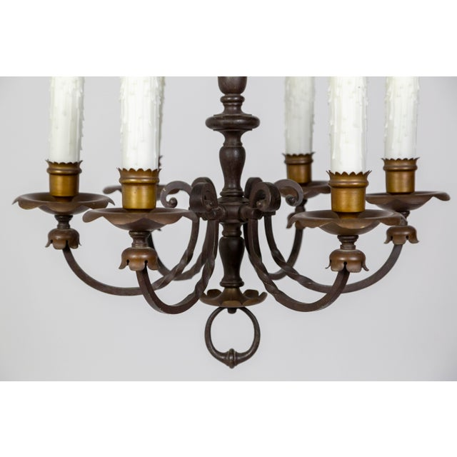 Early 20th Century Renaissance Revival Six-Light Candlestick Chandelier For Sale - Image 5 of 11