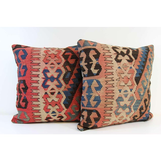 Turkish Vintage Pillow Covers - Pair - Image 3 of 6
