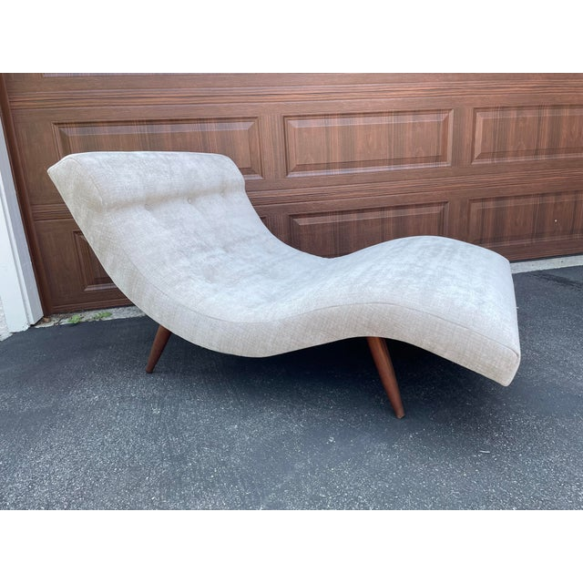 Vintage Adrian Pearsall for Craft Associates Wave Lounge For Sale - Image 9 of 9