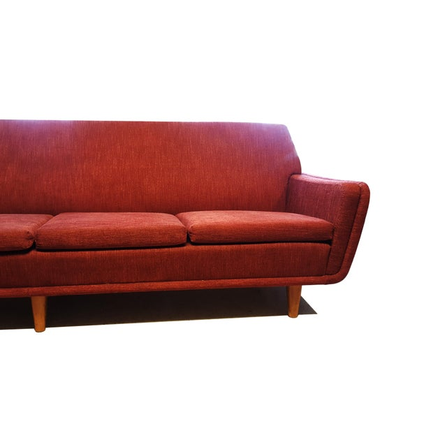 1960s Large Swedish Mid-Century Modern/Space Age Folke Ohlsson for Dux Red Sofa/Couch For Sale - Image 5 of 8