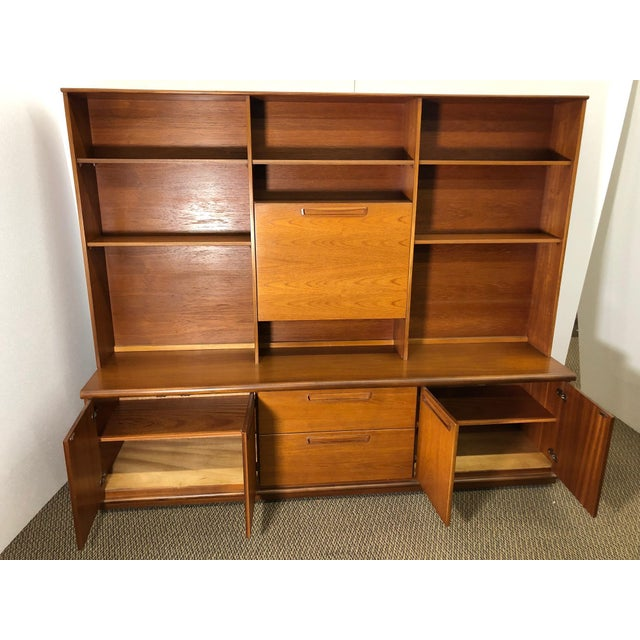 Mid-Century Modern Midcentury Teak Wall Unit by Meredew For Sale - Image 3 of 13