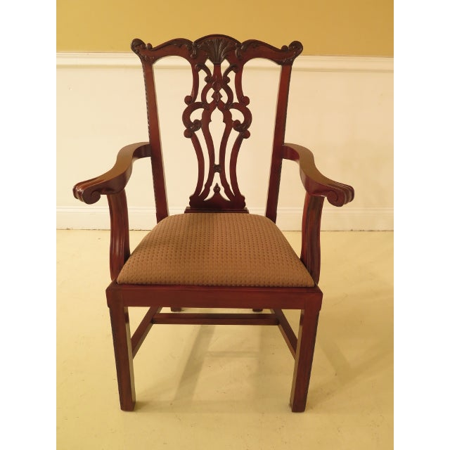 This is a set of 8 EJ Victor Chippendale style dining chairs. The pieces are made of mahogany and are about 15 years old....