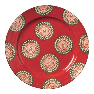 OKA Pasha Large Plate in Red/Green