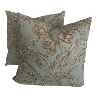 Lee Jofa Shabby Chic Linen Pillows - a Pair