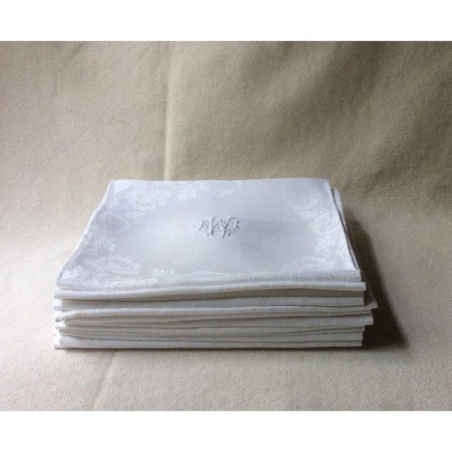 White 19th Century French Linen Napkins - Set of 12 For Sale - Image 8 of 11