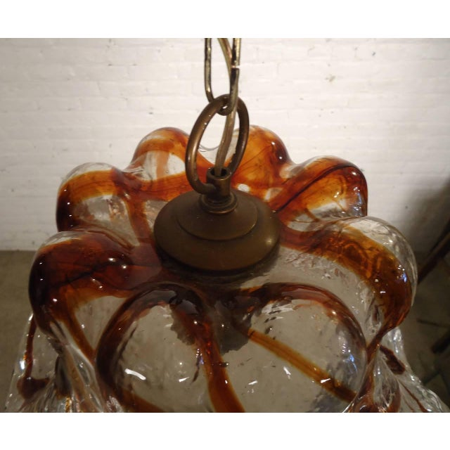 Sculpted Blown Glass Petal Lamp by Mazzega For Sale In New York - Image 6 of 8