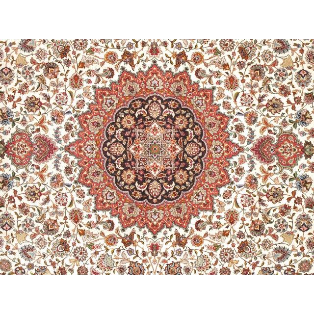 "Pasargad Persian Tabriz Silk & Wool Rug - 9'11"" X 13' 0"" - Image 2 of 5"