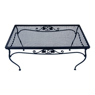 1940s Salterini Mt Vernon Wrought Iron Rectangular Coffee Table For Sale