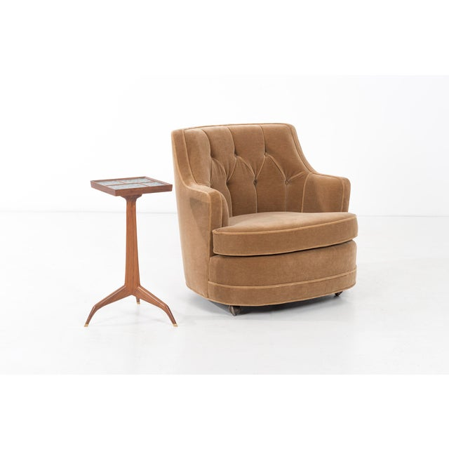 "Edward Wormley for Dunbar ""TV"" Tufted Mohair Lounge Chair For Sale In Chicago - Image 6 of 8"
