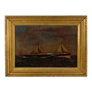 American Country Seascape Painting For Sale