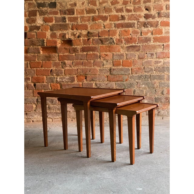 Midcentury Gordon Russell Nest of Tables Set of Three Oak, 1950s - Set of 3 For Sale - Image 6 of 13