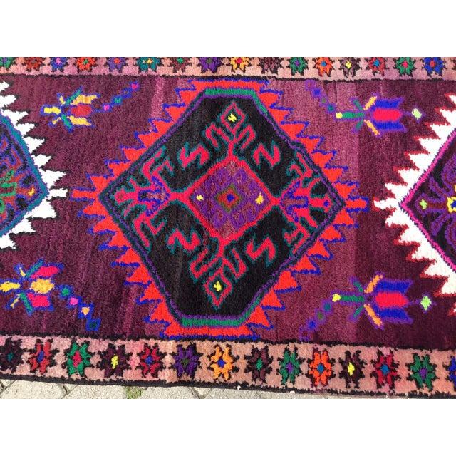 Boho Chic Vintage Anatolian Runner Rug For Sale - Image 3 of 8