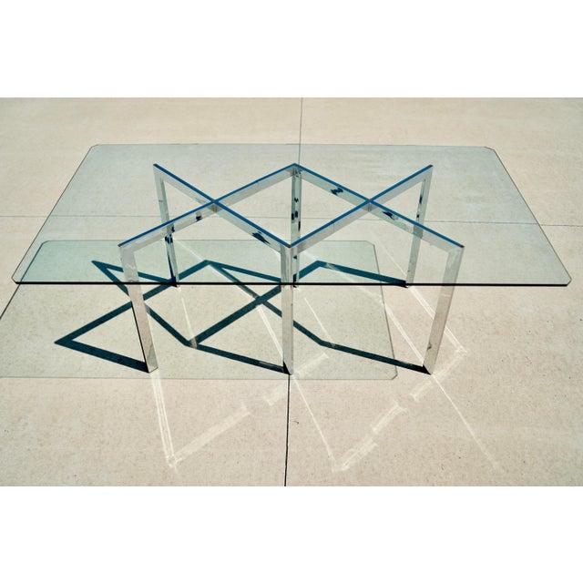 Chrome Milo Baughman for Thayer Coggin X Base Chrome Dining Set - 7 Pieces For Sale - Image 8 of 13