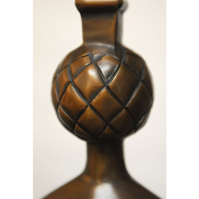 Giacometti Style Solid Bronze Pomme De Pin Lamp For Sale In San Francisco - Image 6 of 7