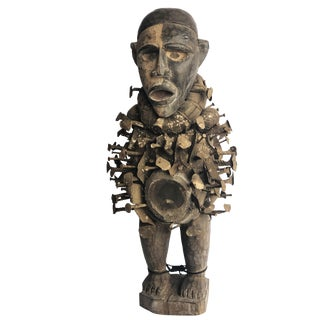"""African Nkisi Fetish Power Figure Dr of Congo 23.5"""" H For Sale"""