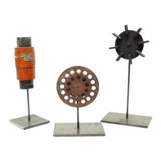 Industrial Mold Sculptures - Set of 3 For Sale