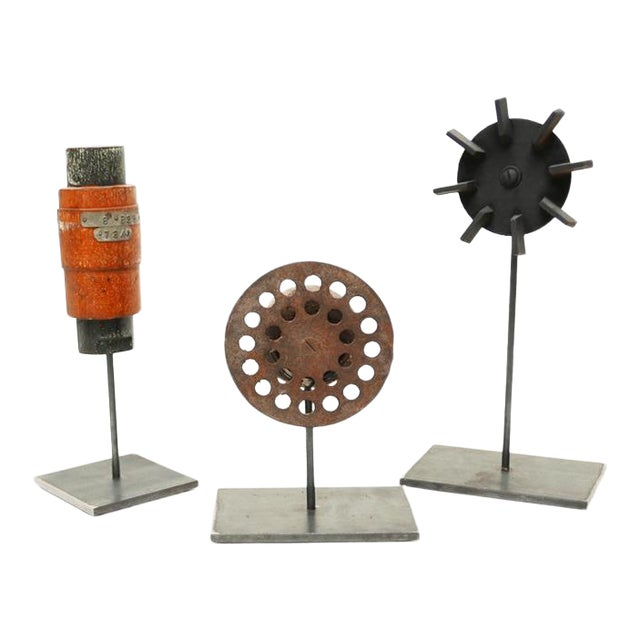 Industrial Mold Sculptures - Set of 3 For Sale