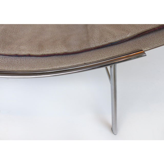 Modern Saporiti Italia Chaise Lounge With Suede Upholstery For Sale - Image 3 of 8