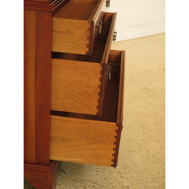 Brown Henkel Harris Solid Cherry Rafferty High Chest For Sale - Image 8 of 13