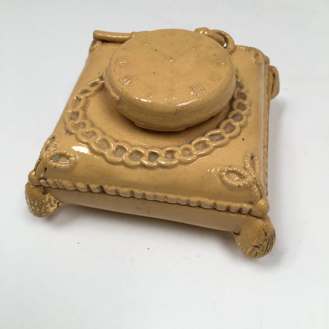 Antique Yellow Ware Match Striker For Sale - Image 9 of 10