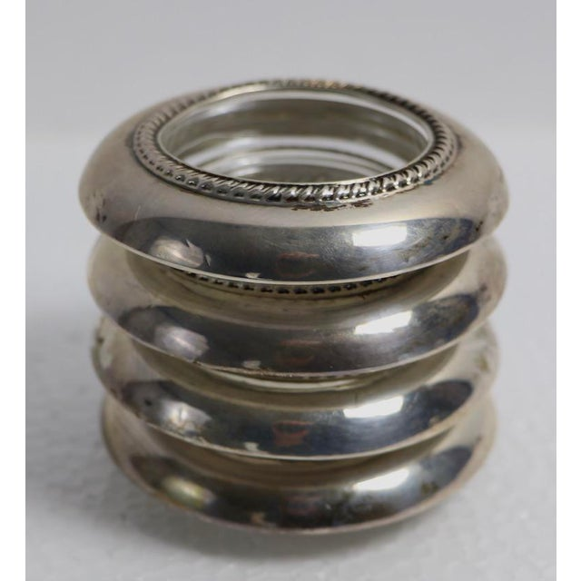 Set of 4 Sterling Rim Coasters For Sale In New York - Image 6 of 6