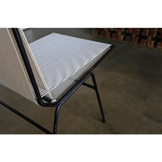White Mid-Century Modern Allan Gould String Steel Chairs - Set of 4 For Sale - Image 8 of 13