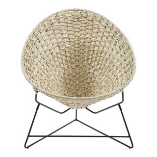 Mexican Palm Tree Woven Chair For Sale