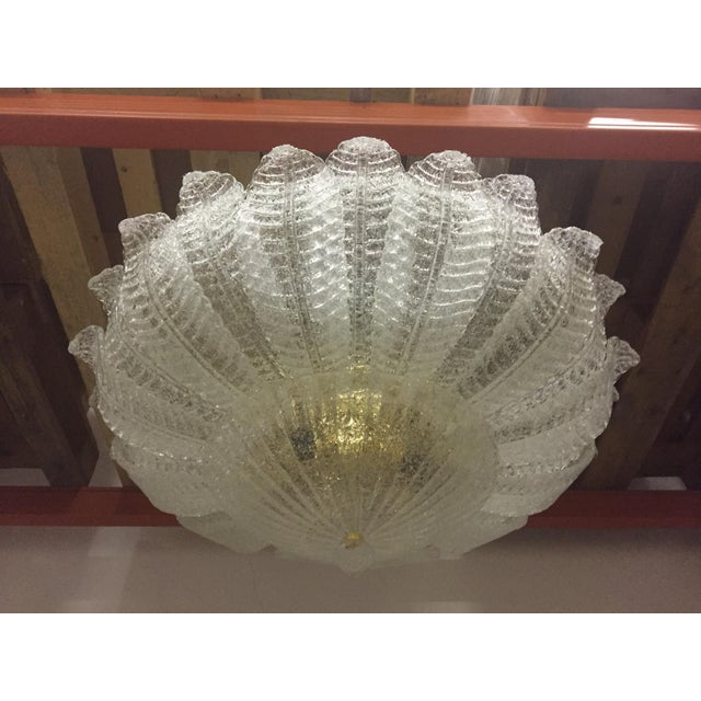"""This is a Murano glass flush mount. The piece requires 9 bulbs. diameter 80 cm = 31.5"""" all Murano glass"""