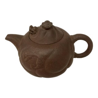 Vintage Chinese Clay Teapot For Sale