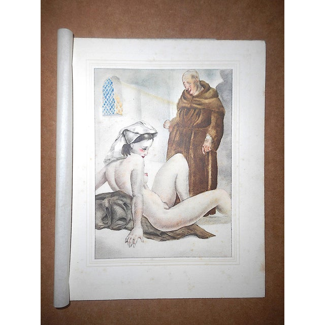 This set of four (4) hand colored copperplate engravings by the well listed French artist Mariette Lydis (France/Argentina...