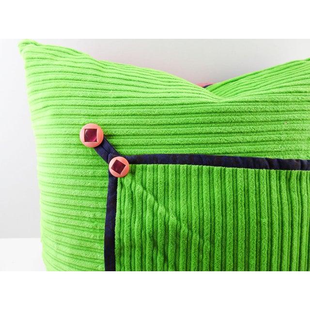 Vintage Textile Quilt Pillow For Sale - Image 4 of 7
