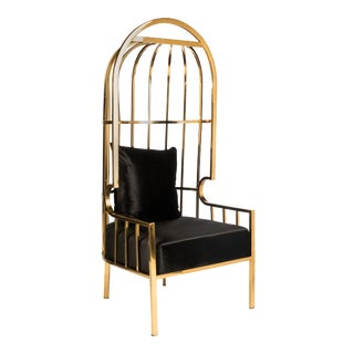Showroom Sample Anika Stainless Steel Balloon Chair in Gold For Sale